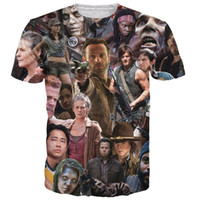 Wholesale Zombies T Shirt - The Walking Dead Paparazzi T-Shirt Rick Grimes Carl Daryl Michonne zombies 3d summer style tee t shirt women men