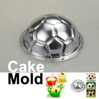 Wholesale Aluminum Jello Mold - New DIY Non-toxic Aluminum Birthday Cake Baking Jello Chocolate Football Pan Mold NIVE order<$18no track