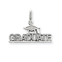 New Arrival Tibetan Silver Toned Graduate with Doctorial Hat Single Side Graduation Gifts Charms