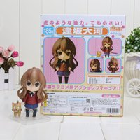 Wholesale Toradora Figures - Free Shipping 10cm Anime Nendoroid Cute Toradora Aisaka Taiga PVC Mini Action Figure Toy Doll Chritmas Brithday Gift