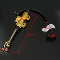 Wholesale Gold Motorcycle Brake Lever - Rear Motorcycle Dirt Pit Bike Hydraulic Master Oil Brake Reservoir Cylinder Gold Free shipping