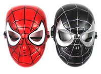 PVC black spiderman birthday - Spiderman Mask Cosplay Party Mask Red Black Colors Halloween Easter Birthday Party Festival mask for Kids