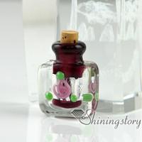 Wholesale Miniature Glass Bottle Vials - wholesale glass vials with cork miniature glass bottle necklace pendant glass vial pendant small glass vials for necklaces