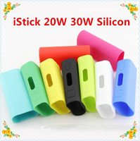 Wholesale Hot Box Covers - 2015 hot Istick Skin soft Silicone rubber Cases carry Bag Ismoka Eleaf Silicon box protective Case cover For Istick 30w 20w box mod Stock Se
