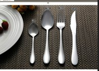 Wholesale Dinnerware Wholesale China - 120 set=480 pcs Top quality western mirror polished stainless steel flatware   cutlery sets  dinnerware knife spoon fork kit