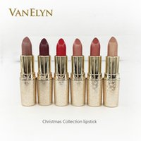 Wholesale Christmas Gift Snow Ball - Snow Ball Lipsticks Elle Belle Holiday Crush Latest Christmas Collection Lipstick 3g 6Color Matte Lipstick For Christmas Gift Free Shipping