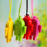 Wholesale Sd Card Reader Android - Lovely Mini Lover Android Robot USB Micro SD Card Reader TF Memory Card Reader Best quality 100pcs