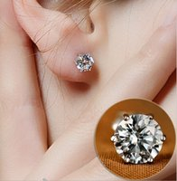 Wholesale Cheap Earrings For Women Sale - Studs 5MM 925 sterling silver Luxury Crystal Zircon Stud Earrings Anti Allergic Elegant women girls noble jewelry earrings for sale Cheap