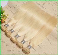Platinum Blonde Silky Straight Hair Extensions, Color 613 Brazilian Remy Straight Human Hair Teje, 8-30 '' Brazilian Blonde Weft Hair Bundles