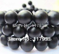 Wholesale 14mm Agate Beads - Free shipping! Wholesale 4-14mm HQ round black Dull Polish Matte Onyx Agate Stone Beads jewelry making free shipping