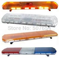 araba ambulansı toptan satış-Yüksek parlak 120 cm 88 W Led araba uyarı lightbar, polis ambulans itfaiye aracı için denetleyici ile acil ışık çubuğu, 11 flaş, su geçirmez IP67