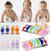Wholesale Infant Safety Set - Baby genouillere set baby knee cap knee pad kneeboss kneecap kneepad Kids Safety Crawling Elbow Cushion Infants Toddlers Protector 6 Colors