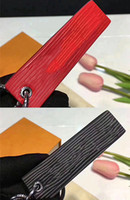 Wholesale Red Checkbook Wallet - First Luxury X First Fashion Real Box Black Red Keychain Downtown Tab Bag Charm Key Holder Red Box bogo For Man And Women Authentic Quality
