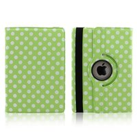 "Wholesale Tablet Cover Polka Dot - Luxury 360 degree rotating Colorful Polka Dots PU Leather Case Cover For iPad Air iPad 5 Case 9.7"" Tablet 50PCS LOT"
