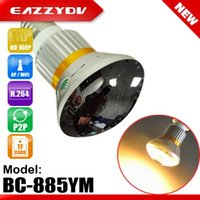 Wholesale Eazzydv BC YM Mirror Bulb WiFi P2P IP DVR Camera with W Warm Light HD P Resolution x720 pixels