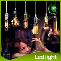 karbon filament toptan satış-Edison Avize Ampul Edison Antik Ampul Aka Karbon Filament Lamba Ipek Ampul Lamba Antika Lamba Işık Edison Ampul Akkor Ampuller