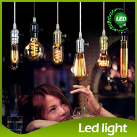 Wholesale Carbon Lamp - Edison Chandelier Bulb Edison Antique Bulb Aka Carbon Filament Lamp Silk Bulb Lamp Antique Lamp Light Edison Light Bulb Incandescent Bulbs