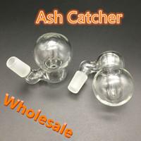 ashcatcher bowl bubbler großhandel-Hohe Qualität Aschfänger Männlich Weiblich 10mm 14mm 18mm Joint asche catcher perc Wasserpfeife Glas Bubbler Aschfänger Schalen percolator für Glas Bong