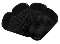 beweglicher schlag großhandel-Intelligentes Auflage-Silikon-Antibeleg-Auto-Schlag-Matten-klebriges Auflage-Schwarzes hält sicher Ihre Schlüssel-Handy-Gläser 4PCS Schwarzes