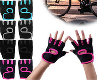 Wholesale Wholesale Women S Fashion Gloves - Fashion Men Women Gym Body Building Weight Lifting Training Fitness Gloves Sports Exercise Slip-Resistant Dumbbell Workout Half Finger Glove