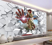 Wholesale Avengers Wall Stickers - Custom Wall Decor The Avengers Poster Hulk Thor Wallpaper Iron Man Captain America Wall Sticker Office Mural Marvel Decals