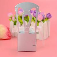 silla de papel de boda cajas de dulces al por mayor-FEIS venta al por mayor en forma de silla de papel favores de la boda caja de dulces cajas de dulces fiesta de bodas baby shower regalo de matrimonio