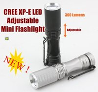 Wholesale Choose Work - Alonefire TK67 CREE XP-E torch Portable Mini Flashlight Adjustable torches For AA or 14500-Black   Titanium ( choose )
