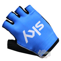 Wholesale Bike Racing Bicycle - Tour of France Teams Edition SKY bicycle Cycling Gloves guantes ciclismo mtb gloves half finger Racing road bike gloves