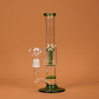"Wholesale Glass Vase Smoke - Amazing Glass Pipe 9.8"" Water Smoking Pipe Perc Honeycomb Disk Pipe Bong With 5 Arm Tree Perc Vase 25cm Height 3 Colors WP044"