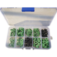 Wholesale Car Ac Kit - A Box Of Car Air Condition Automotive A C O-Rings10 Sizes Assorted Seal AC Repair HVAC O-Ring Seal Kit For R134a Applications order<$18no tr