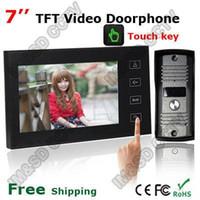 "Wholesale Touch Screen Video Intercom Doorbell - Home Security 7"" Inch TFT Touch Screen LCD Color Video Door Phone Doorbell Intercom system Night Vision Eye Camera Doorphone A5"