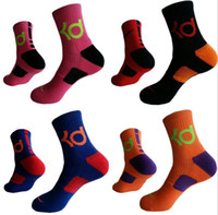 Wholesale Thick Summer Bottoms - KD Elite Sports Socks Cotton Thick Bottom Towel Deodorant Movement Socks Men Basketball Football Sport Socks OOA3492