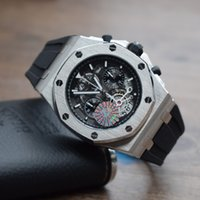 Wholesale Multifunction Quartz Movement - New luxury brand quartz movement Hollow out literally Men's Watches Multifunction exercise Six needle chronograph Wrist Watch FREE SHIPPING.