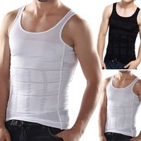 Wholesale Vest Tops For Men - 2pcs Hot Sale Body Shapers For Men Compression Shirt Slim Body Lift Shaper Belly Fatty Buster Underwear Vest Corset