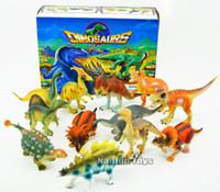 Wholesale Plastic Dinosaurs Large - Dinosaur simulation models Jurassic World Model 12 piece Large Assorted Dinosaurs toys 5-7