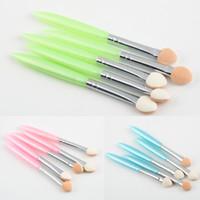 Wholesale Eye Shadow Sponge Brush - 1set Hot Worldwide 5 Pcs Beauty Makeup Cosmetics Eye Shadow Eyeliner Brush Sponge Applicator Tool