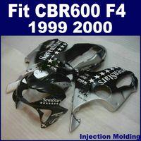 Wholesale honda star fairing - Injection molding parts for HONDA CBR 600 F4 1999 2000 silver black stars full fairing kit 99 00 CBR600 F4 fairing sets ZCVG