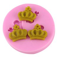 Wholesale Imperial Silicone - Silicone 3D Imperial Crown Fondant Chocolate Mold Silicone Cake Mold Sugar Craft Molds DIY Cake Decorating Tools CT195