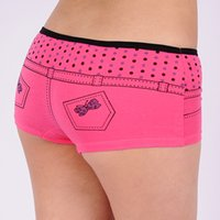 Wholesale Jeans Boxer Shorts - 2015 New Lady sport underwear Jeans shape women boxer short stretch lady panties women boyshort lingerie intimate undergarment lady boyleg