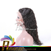 Wholesale Human Hair Very Long Wigs - Free shipping natural expensive human hair wigs for white women very thick end full length no shedding