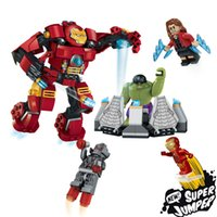 4 pièces Lot Marvel The hulk Figures d'action League of Legends Building Blocks Figures Avengers DC Super Heroes Series XL79081