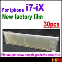 protector de pantalla frontal de iphone al por mayor-30 piezas para iphone X 8 7 más nuevo protector de pantalla frontal película de fábrica de película protectora Protector de alta calidad