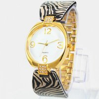 Wholesale Yellow Plastic Jewelry - 2017 High Quality golden Luxury Brand Women Rhinestone Watches Gold steel Dress Ladies Watch Montre Femme Clock Female Reloj Mujer