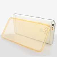 Wholesale Lens Dust Protection - New TPU Case for iPhone 6 6S Plus Camera Protection Silicone Gel Transparent back Cover Skin Round Lens Hole with Dust Plug MOQ:10pcs