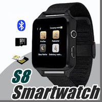 Wholesale Aa Wholesale Clocks - 2017 Smart Watch S8 X6 Metal Clock Sync Notifier Support Sim TF Card Bluetooth Connectivity Android&IOS Phone Alloy Smartwatch S8 AA-BS