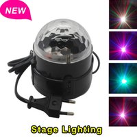 Atacado-2015 Nova Movendo LED RGB Cabeça Laser Projetor Luzes de som Digital Crystal Magic Ball Stage Efeito de Luz Disco Home Entertainment