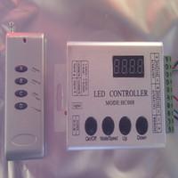 Wholesale Digital Rf Controller - Wholesale-133 modes wireless digital TM1803, TM1804, TM1809,UCS1903 IC RF Controller for 5050 dream color RGB led strip,control 1000 IC