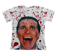 Wholesale American Psycho Shirt - Hot sale 2015 Fashion men's tshirt 3d print American Psycho T-shirt Unisex Tees Novel Digital Printed Short Sleeve Tops T shirt