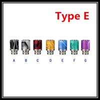 Wholesale Electronic Cigarette Aluminum Drip Tip - Wholesale Aluminum with Acrylic Drip Tips eGo 510 Candy Wooden Stainless Steel with PTFE Mouthpieces for 510 Threading Electronic Cigarettes