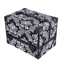 New Design Leopard Checks Leaves Mulheres Abs Mulheres Make Up Box Maquiagem Case Beleza Case Cosmetic Bag Multi Tiers Lockable Travel Cosmetic Bag